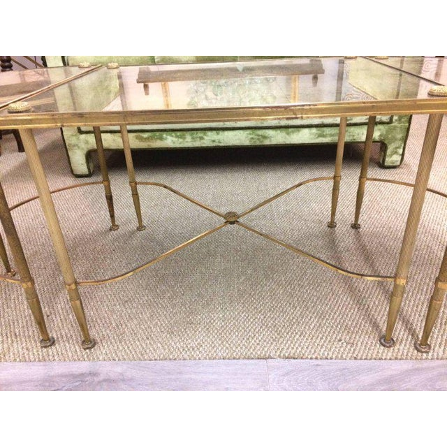 Brass Vintage Oblong Gilded Coffee Table For Sale - Image 7 of 9