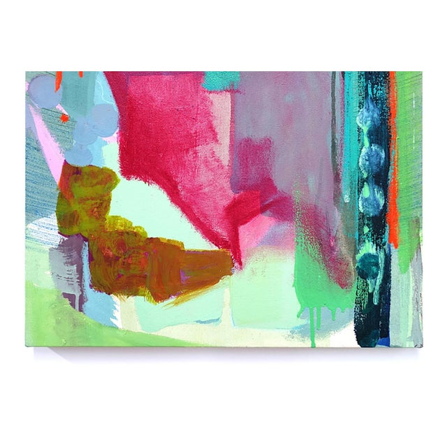 """Abstract Molly Herman """"Spectral Envelope"""" Small Abstract Painting For Sale - Image 3 of 4"""