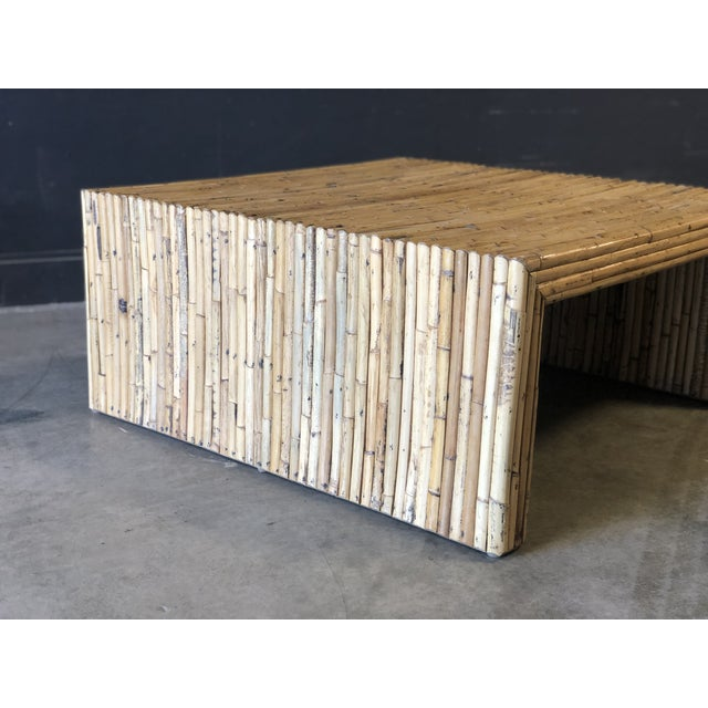 Vintage Bamboo Parson Style Coffee Table For Sale - Image 4 of 5