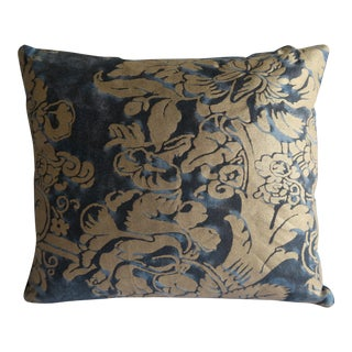 Pair of Midnight Blue & Gold Fortuny Pillows