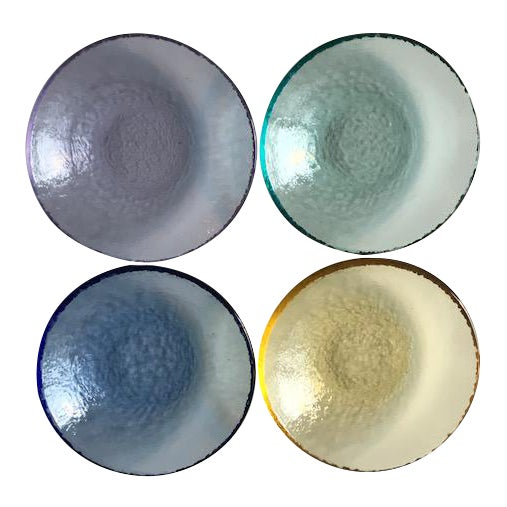 Multi-Colored Textured Glass Dishes - Set of 4 - Image 1 of 4