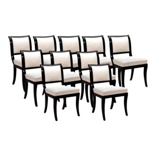 Nancy Corzine Chairs - Set of 10 For Sale