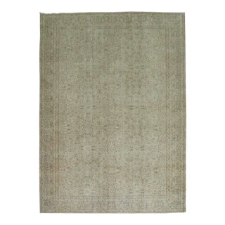 Turkish Shabby Chic Neutral Rug - 6'6'' x 9'7'' For Sale