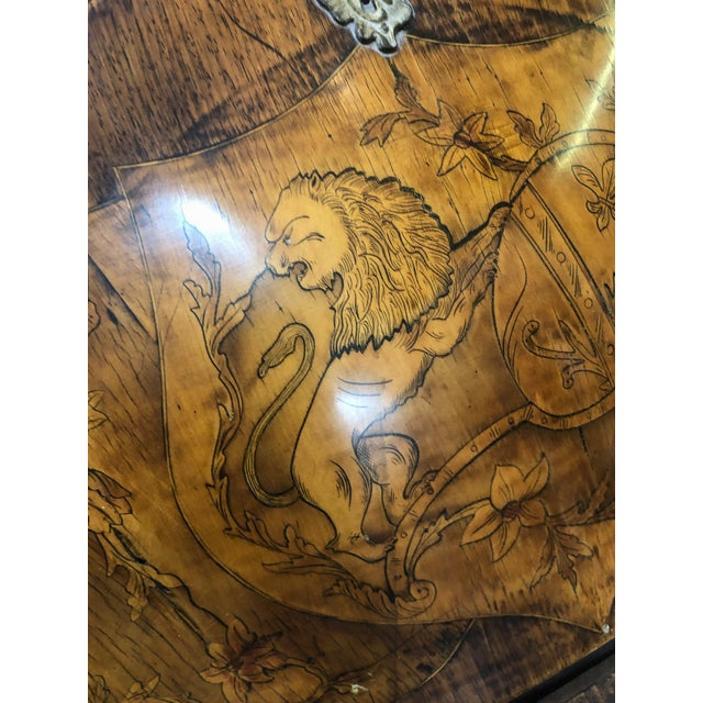 Inlay Marquetry Bombay Desk / Secretary For Sale In Los Angeles - Image 6 of 10