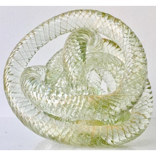 "Large Murano Glass 8""Twisted Knot Sculpture Preview"