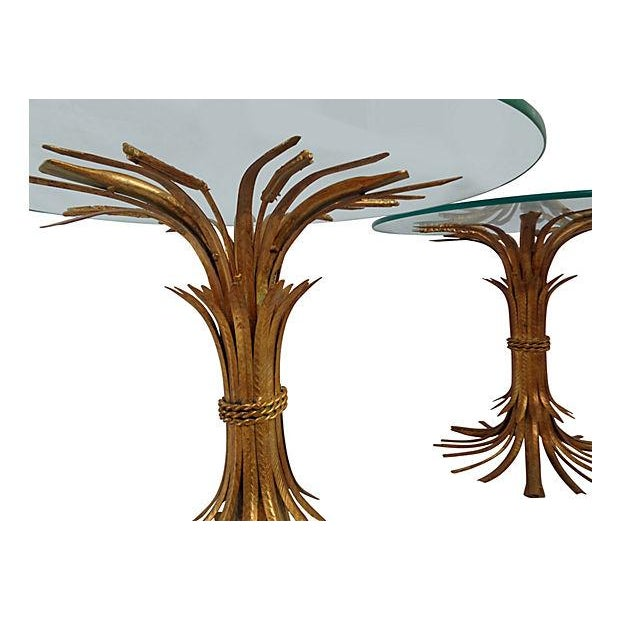 Italian Wheat Sheaf Side Tables - A Pair - Image 4 of 5