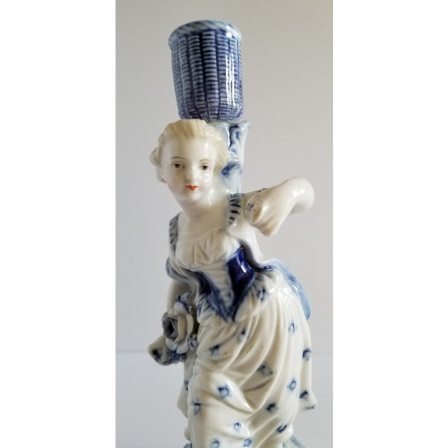 Antique Meissen Porcelain Candlesticks-A Pair For Sale In New York - Image 6 of 13