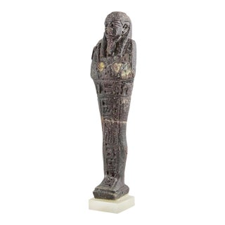 26th Dynasty Glass Ushabti For Sale