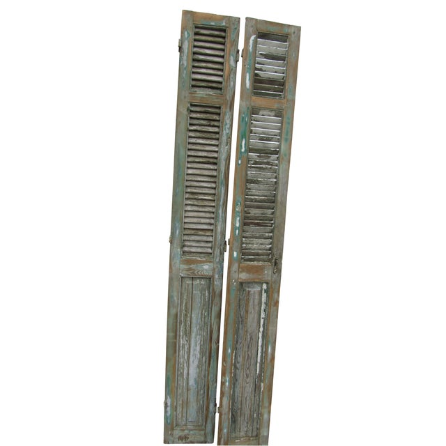 Rustic French Shutters- A Pair - Image 2 of 8