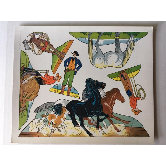 Americana Vintage Cowboy & Indian Cut Outs - Uncut Sheet #3 For Sale - Image 3 of 4