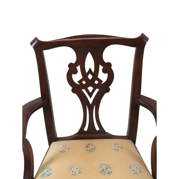 1990s Henkel Harris Chippendale Dining Mahogany Chairs Model 101 - Set of 6 For Sale - Image 5 of 13