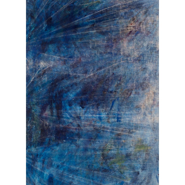 2010s Cole Sternberg, 'Rotational Moments Guided by a Sand Bar,' 2018, Mixed Media on Linen, 50 X 70 Inches For Sale - Image 5 of 5