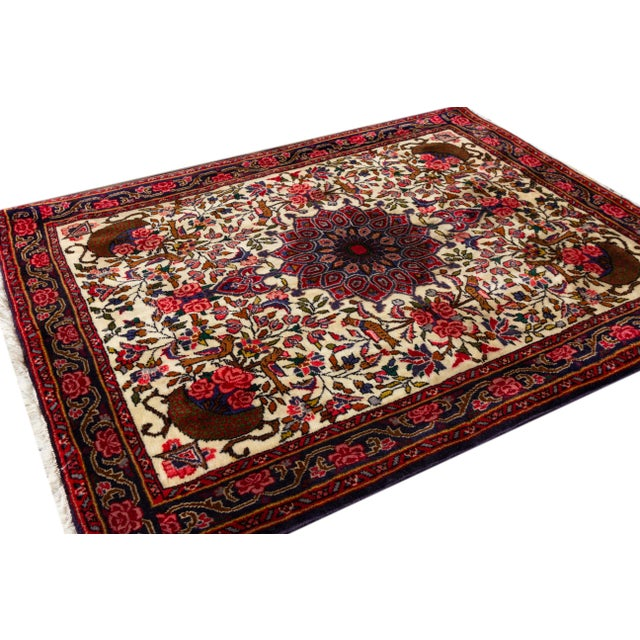 """Traditional Vintage Persian Rug, 2'7"""" X 3'6"""" For Sale - Image 3 of 6"""