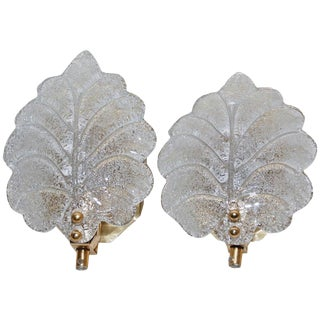 Pair of Sconces Probably Orrefors For Sale