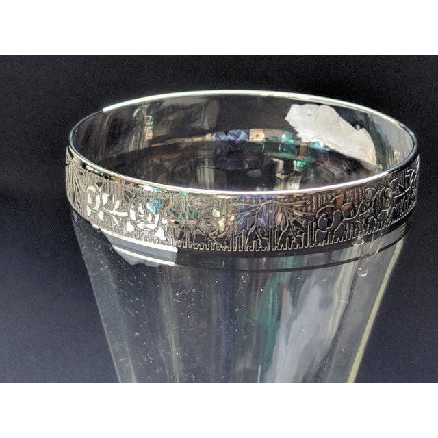 Crystal Silver Embossed Dessert Glasses – Set of 6 For Sale - Image 7 of 11
