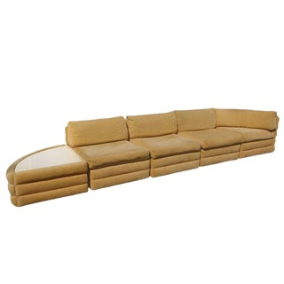 Milo Baughman for Thayer Coggin Five Piece Sectional For Sale