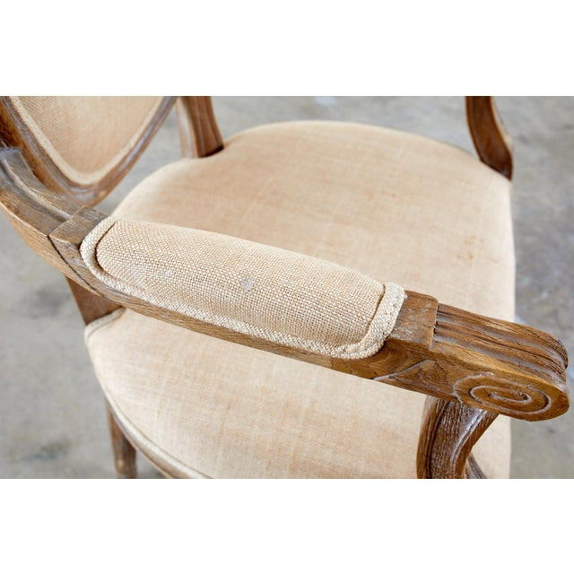 French Louis XVI Style Oak Dining Chairs - Set of 10 For Sale In San Francisco - Image 6 of 13