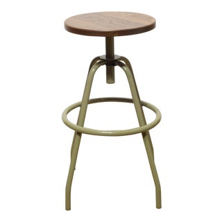 """""""Fixed Studio Work Stool"""" in Reed Green by Makr For Sale"""