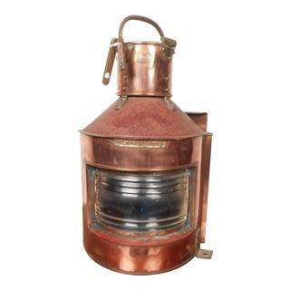 Mid-Century Modern Alderson & Gyde Copper Lantern For Sale