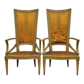 1950s Vintage Hollywood Regency Sculptural Arm Chairs- A Pair For Sale