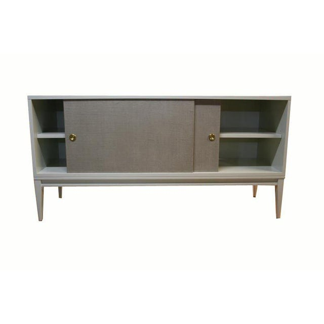 Customizable Bishop Lacquered Linen Door Console - Image 5 of 10