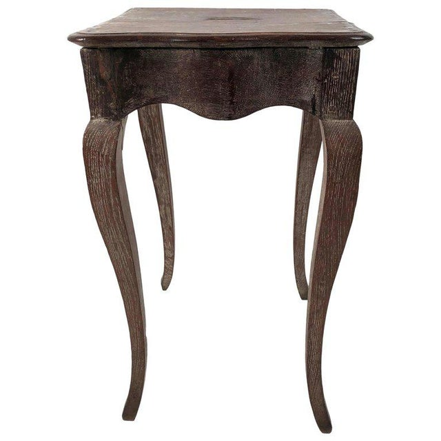 Small Louis XV Style Walnut and Limed Oak Side Table For Sale - Image 11 of 11