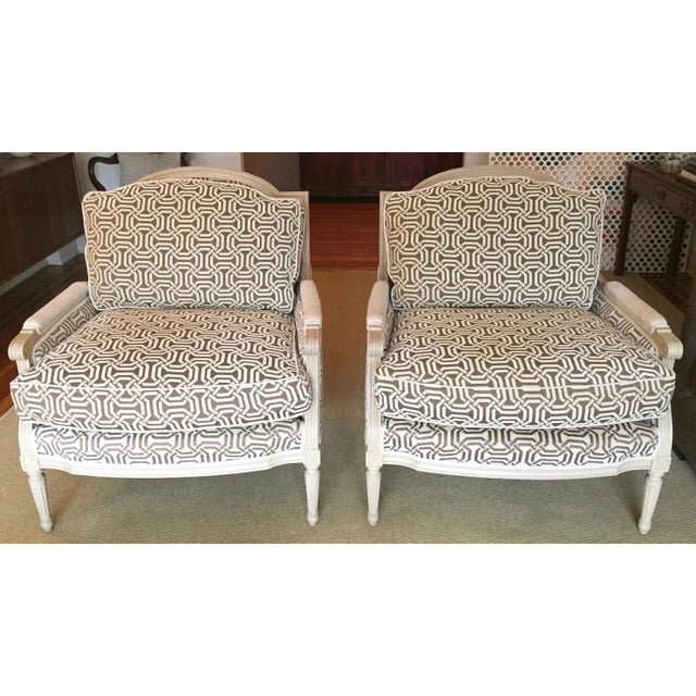 New Louis Style Living Room Chairs A Pair Chairish