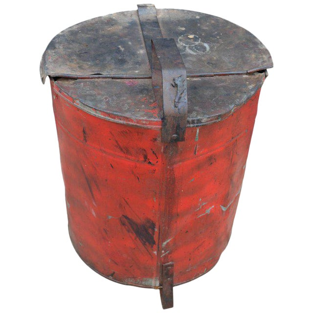 Industrial Rag Bin with Hinged Lid - Image 1 of 10