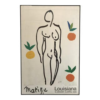 1985 Framed Matisse Louisiana Exhibition Poster For Sale
