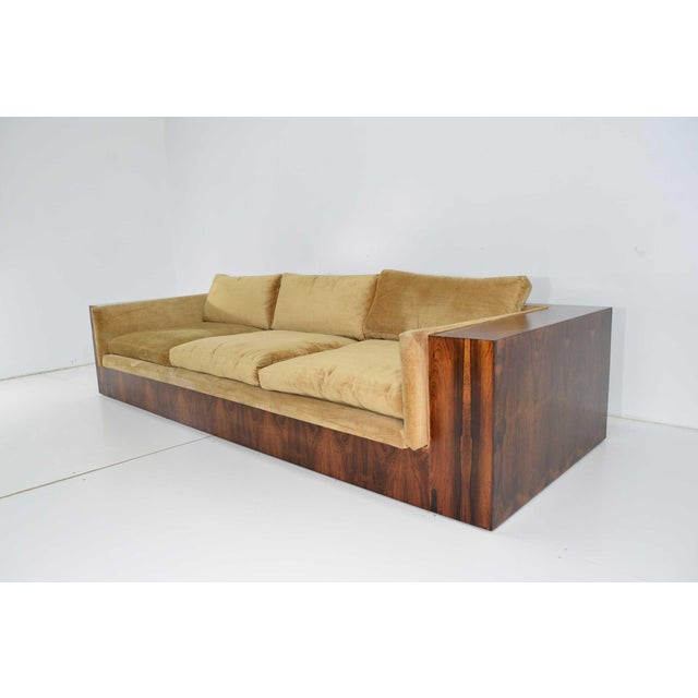 Mid-Century Modern Milo Baughman for Thayer Coggin Rosewood Case Sofa For Sale - Image 3 of 13
