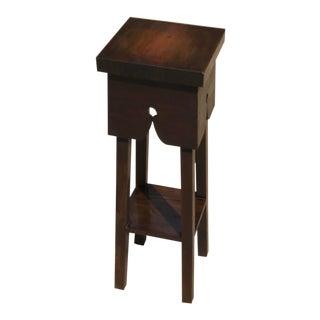 Vintage Arts and Crafts Solid Wood Plant Stand Pedestal For Sale