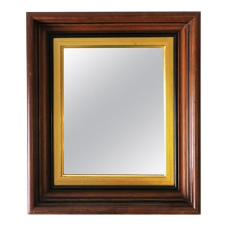 Wood and Gold Giltwood Framed Wall or Vanity Mirror For Sale