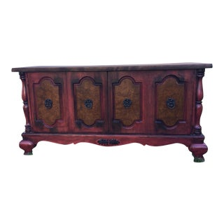 Contemporary Red Low Sideboard For Sale