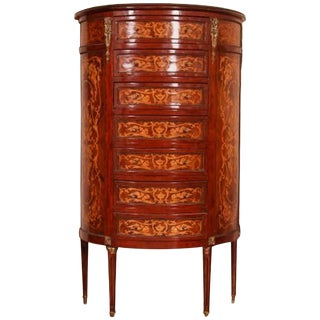 19th Century French Seven-Drawer Marquetry Chest