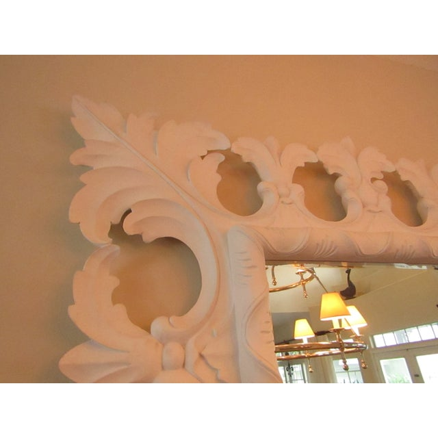 Modern Christopher Guy Elaborately Carved Wood Framed Mirror For Sale In West Palm - Image 6 of 10