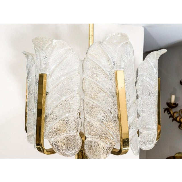 Orrefors Chandelier in Brass and Glass Designed by Carl Fagerlund For Sale - Image 9 of 13