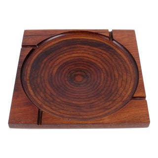 Mid-Century Modern Shur Wood Designs Target Ash Tray For Sale