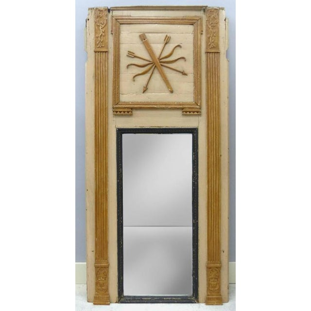 18th Century Boiserie Panels Mounted as Trumeau Mirrors - A Pair For Sale - Image 4 of 11