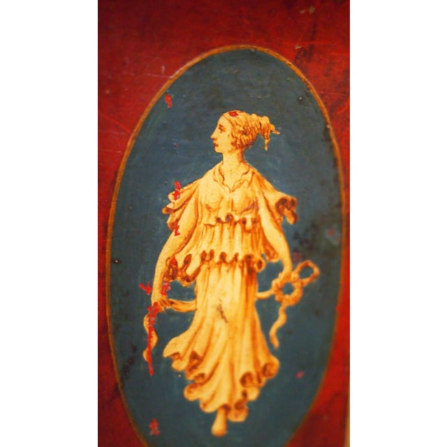 Pair of 19c. Neoclassical Tole Vases For Sale - Image 4 of 9