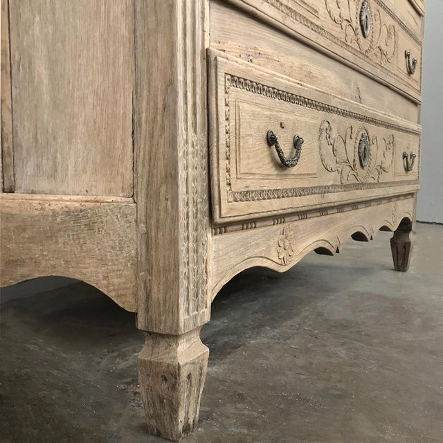 18th Century French Louis XVI Stripped Oak Commode For Sale - Image 9 of 13