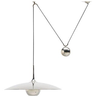 Florian Schulz Onos 55 Pendant Lamp in Chrome, Germany, 1970