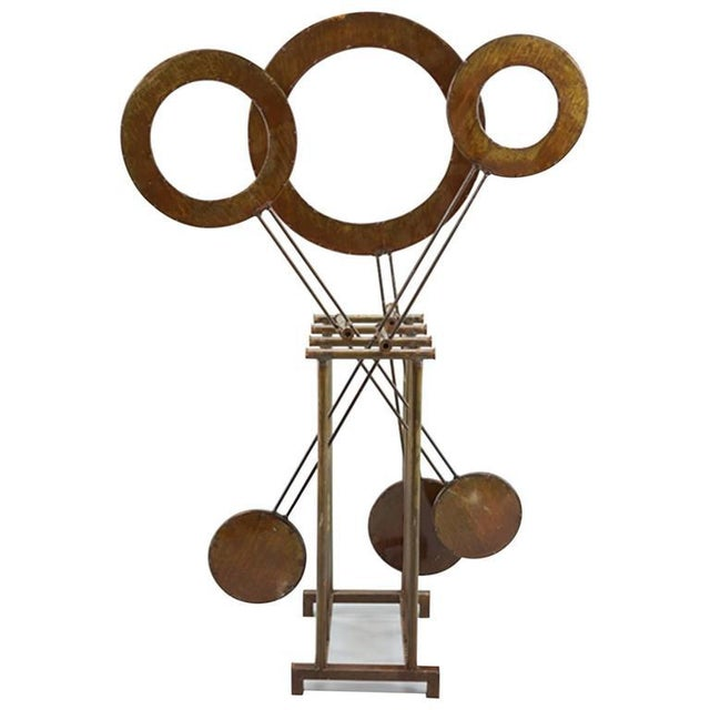 Metal Monumental Mid-century Kinetic Sculpture, Very Soothing, Hypnotic For Sale - Image 7 of 7