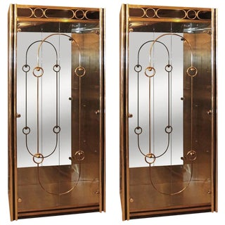 Bernard Rohne for Mastercraft Display Cabinet Vitrine - A Pair