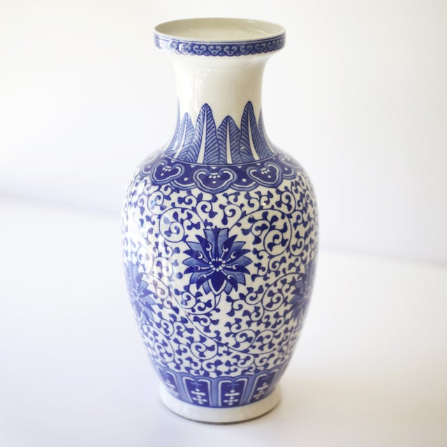 Asian Blue & White Korean Vases - a Pair For Sale - Image 3 of 4