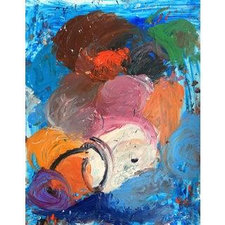 Sean Kratzert 'Blue Dream' Abstract Oil Painting
