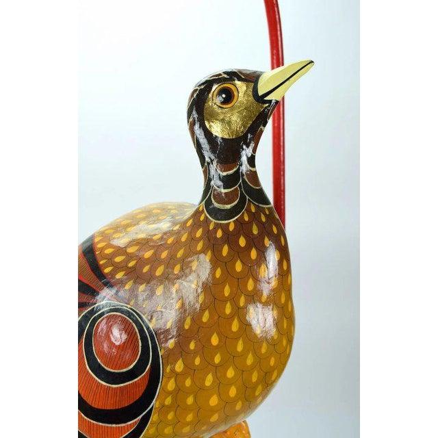 Sergio Bustamante Vintage Sergio Bustamante Limited Edition Paper Mache Tropical Bird Sculpture For Sale - Image 4 of 8