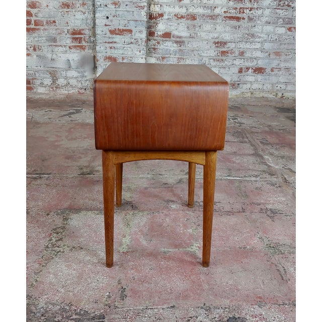 Brown Johannes Andersen-Two Drawer Teak Bedside Tables-Mid Century Danish-A Pair For Sale - Image 8 of 10