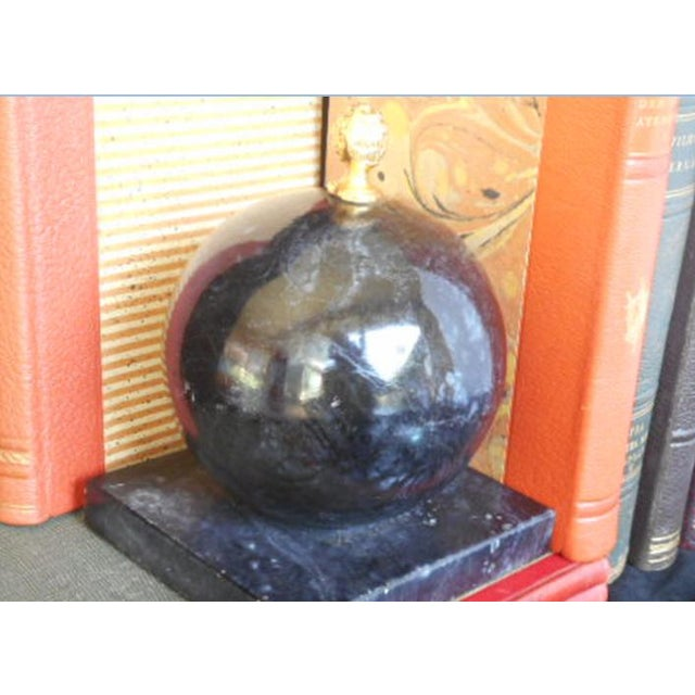 Alabaster Globe Bookend With Brass Finial - Image 5 of 7