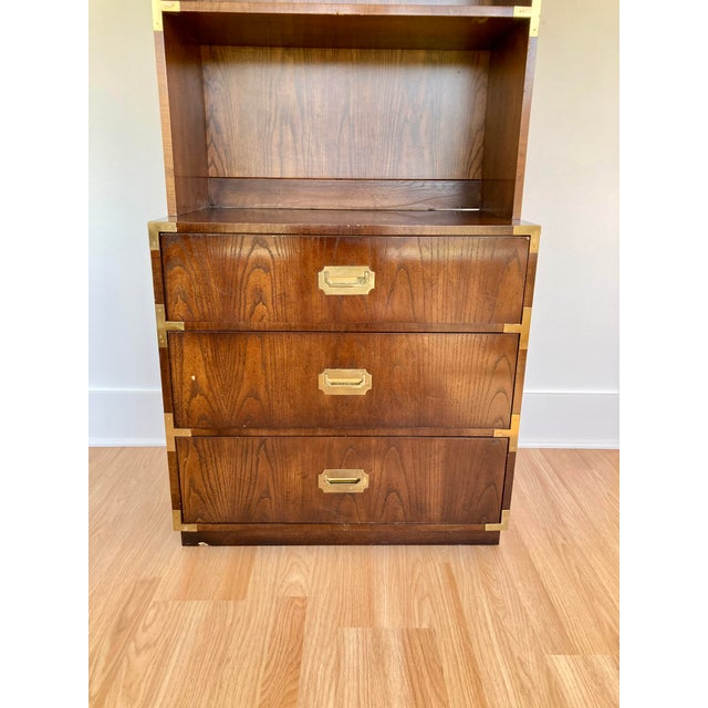 Dixie Late 20th Century Dixie Campaign Dresser With Shelves For Sale - Image 4 of 13