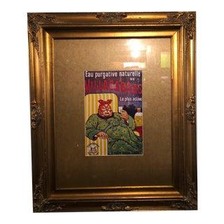 Custom Framed Villacabras Laxative Artwork